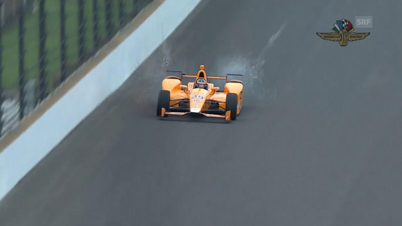 Alonso überfährt zwei Vögel