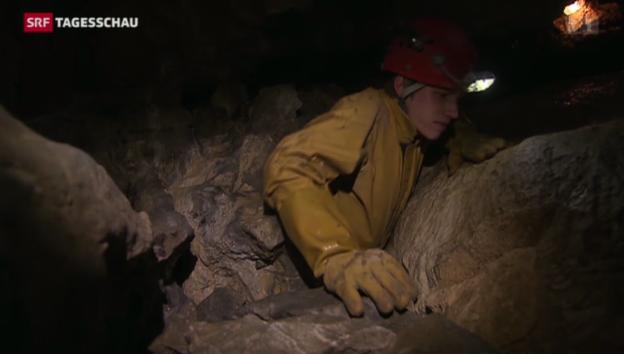 Video «Höhlenforscher bei der Arbeit» abspielen