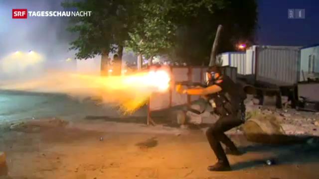 Strassenschlacht in Istanbul