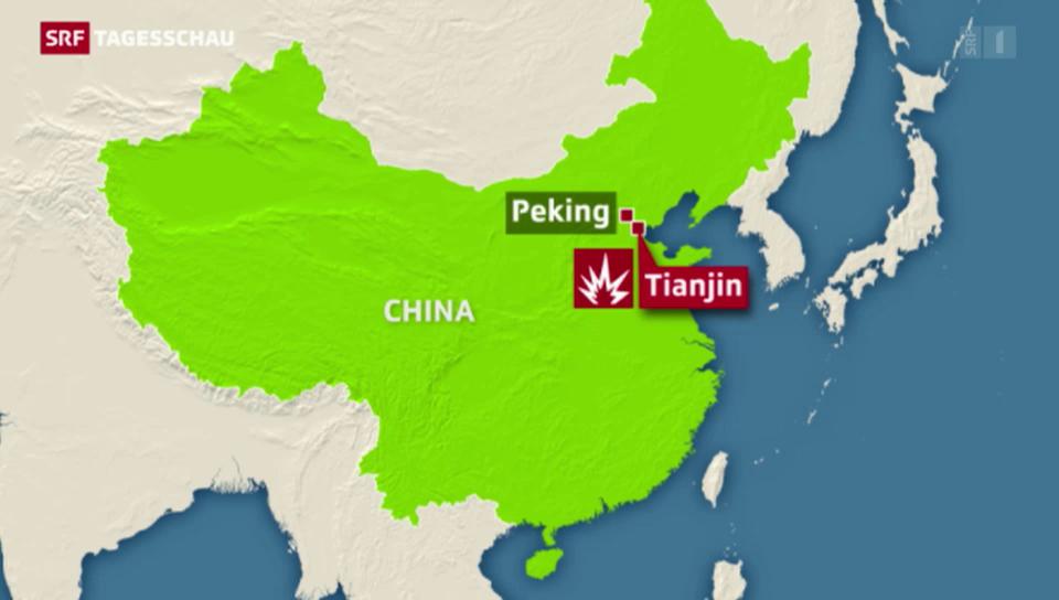 Über 100 Todesopfer in Tianjin