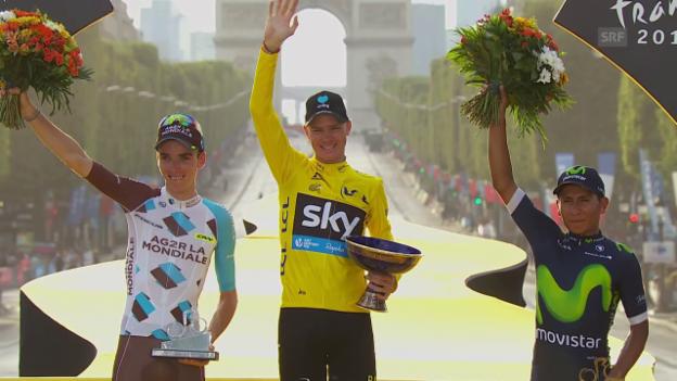 Video «Die 3 Tour-de-France-Siege von Chris Froome» abspielen