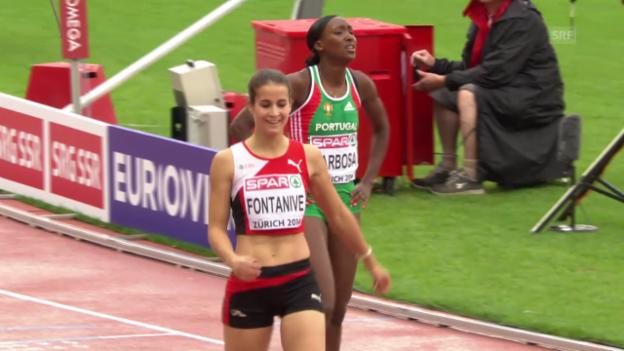 Video «LA: Fontanive in ihrem Vorlauf über 400 m Hürden» abspielen