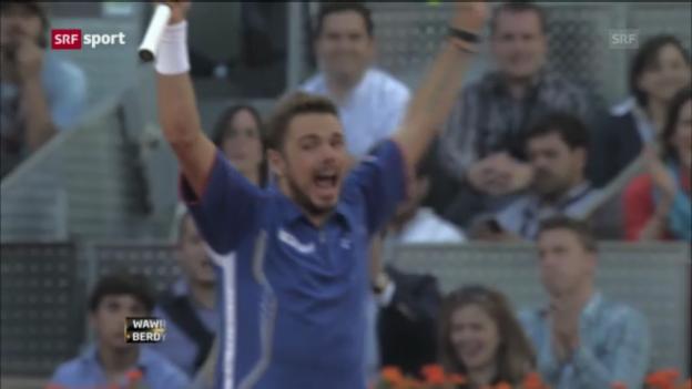 Video «Wawrinka - Berdych Halbfinal Madrid 2013» abspielen