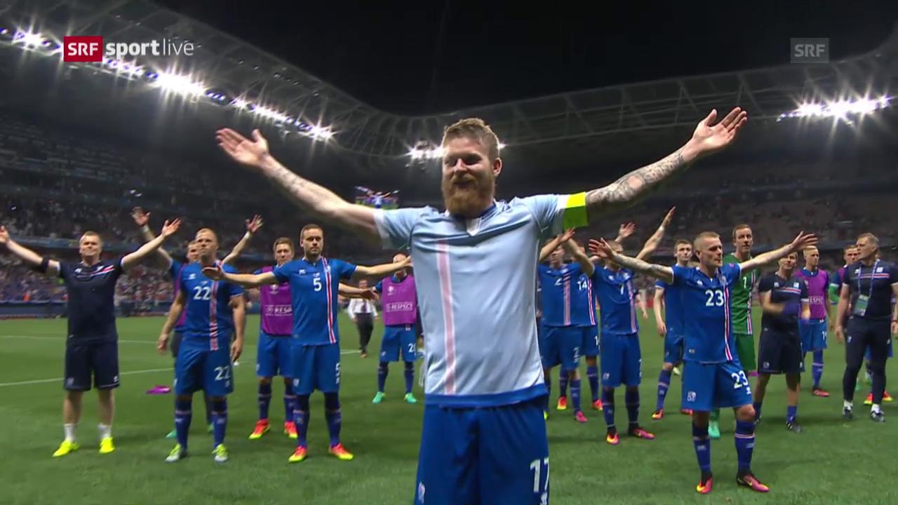 Il haka dals Islandais - ina da LAS scenas da questa Euro 2016