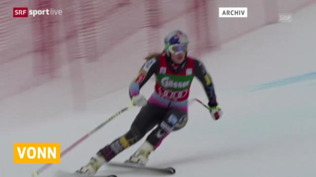 Video «Ski alpin: Lindsey Vonns Comeback in Lake Louise» abspielen
