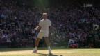Video «Federer schlägt Raonic im Viertelfinal» abspielen
