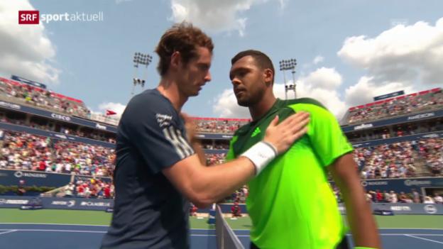 Video «Tennis: Tsonga besiegt auch Murray» abspielen
