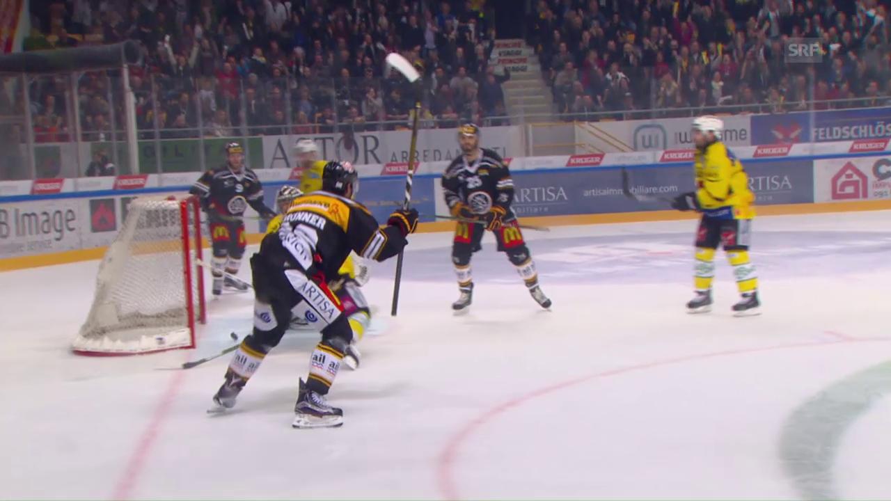 Die Live-Highlights des 1. Playoff-Finalspiels zwischen Lugano und Bern