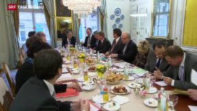 Video «Von-Wattenwyl-Gespräche im Zeichen der Abstimmung » abspielen
