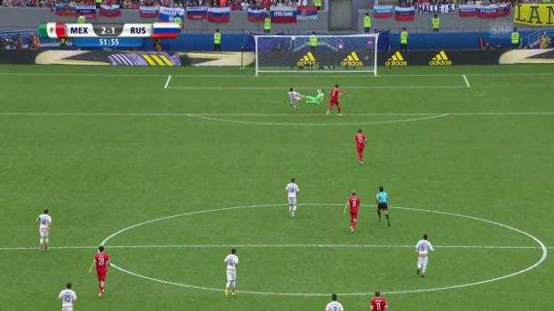 Video «Akinfejew verschätzt sich beim 1:2» abspielen