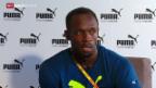 Video «Leichtathletik: Usain Bolt vor der WM in Peking» abspielen