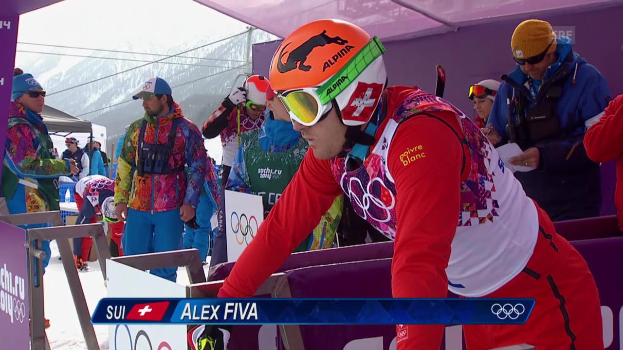 Ski Cross: Qualifikation Männer, Lauf und Interview Alex Fiva (sotschi direkt, 20.2.2014)