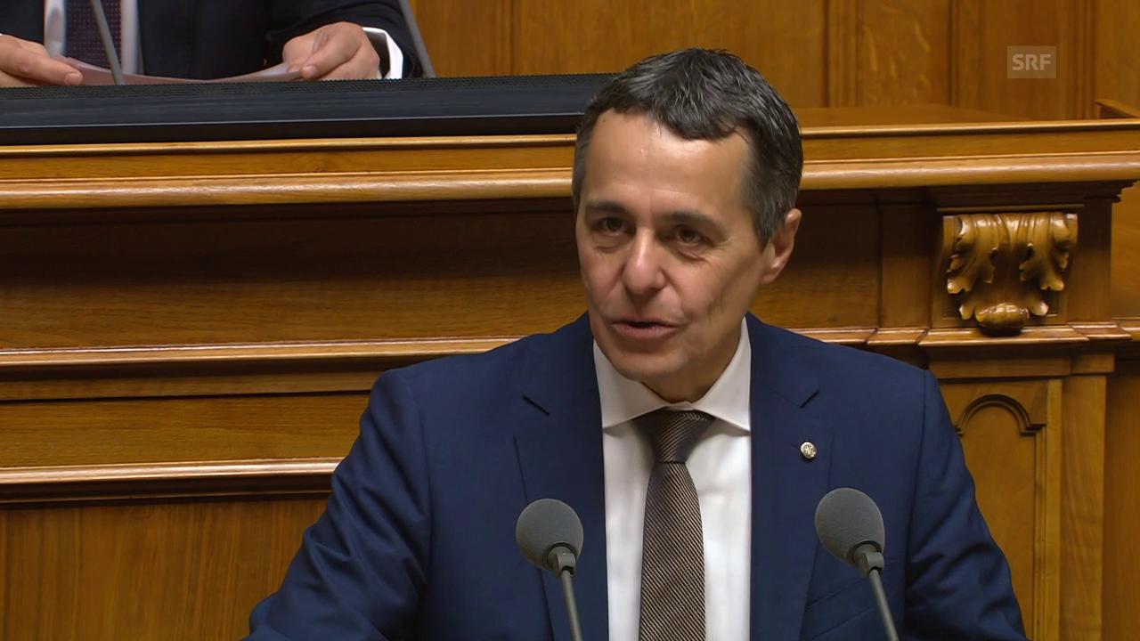 Ignazio Cassis' Antrittsrede für das Amt des Bundesrats