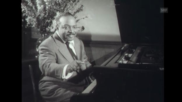 Video «US-Pianist Count Basie zu Gast in Zürich (1959)» abspielen