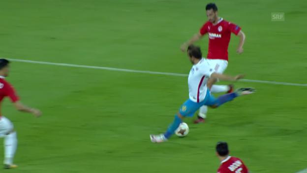 Video «Steaua Bukarest gewinnt auch sein 3. Spiel» abspielen