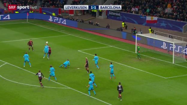 Video «Fussball: CL, Matchbericht Leverkusen-Barcelona» abspielen