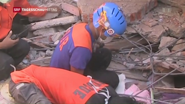 Video «Grosse Schäden nach Beben» abspielen