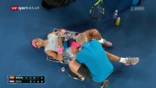 Link öffnet eine Lightbox. Video Federers Warten auf den Hochkaräter abspielen