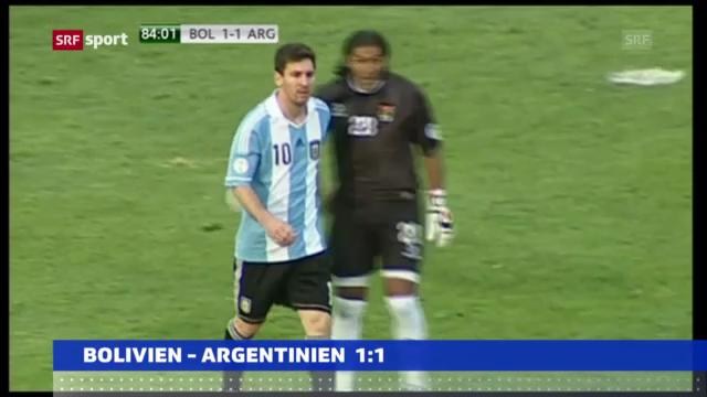 Fussball: Bolivien - Argentinien («sportaktuell»)
