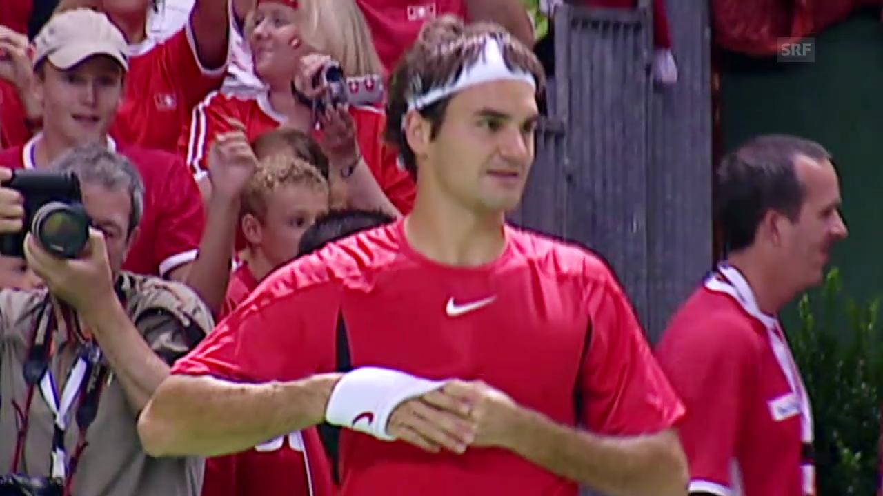 Tennis: Davis Cup, Rückblick Schweiz - Serbien 2006