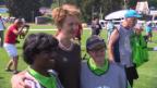 Video «Ein schöner Tag: Bundesrätin Sommaruga am Behinderten-Sportfest» abspielen