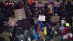 Video «Massenproteste gegen rumänische Regierung» abspielen