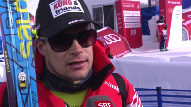 Video «Ski: WM, Patrick Küng Interview nach 1. Training Abfahrt» abspielen