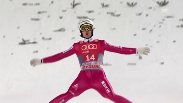 Video «Simon Ammanns 2. Sprung in Bischofshofen» abspielen