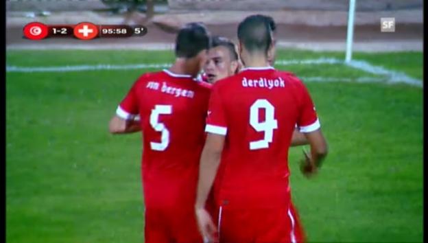 Video «Schweiz siegt in Tunesien dank Shaqiri («sportaktuell»)» abspielen