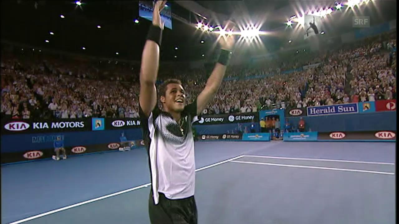 Als Tsonga 2008 Nadal vom Platz fegte