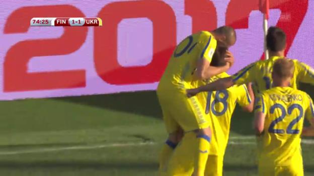 Video «Die Tore bei Finnland-Ukraine» abspielen