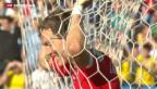 Video «Bittere Enttäuschung auch am Tag nach dem WM-Aus» abspielen
