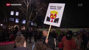 Video «Demos in der Schweiz gegen Trump» abspielen