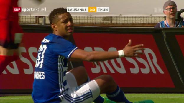 Video «Thun entführt einen Punkt aus Lausanne» abspielen
