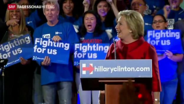 Video «Clinton und Trump siegen bei Vorwahlen» abspielen