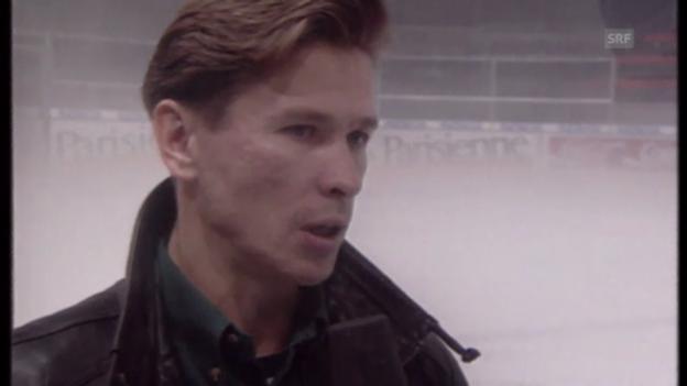 Video «Bykow und Chomutow verweigern sich dem Goldhelm (Beitrag «10vor10», 1994)» abspielen