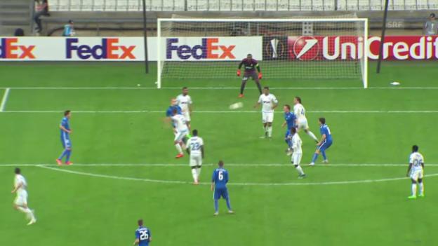 Video «Fussball: Europa League 2015/16, 2. Gruppenspiel, Marseille - Liberec» abspielen
