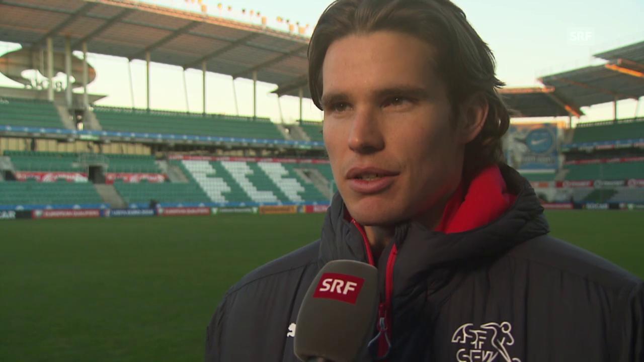 Fussball: EURO-Quali, Interview Hitz vor Estland-Spiel