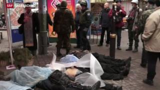 Video «Ukraine: Noch mehr Tote statt Waffenruhe» abspielen