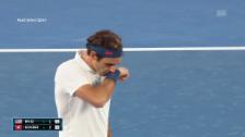 Link öffnet eine Lightbox. Video Live-Highlights Federer - Fritz abspielen