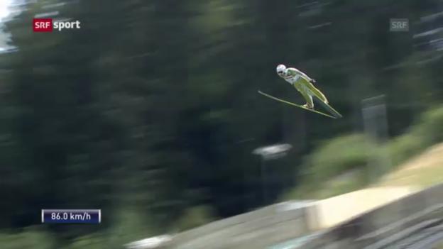 Video «Skispringen: Sommer-GP in Hinterzarten («sportpanorama»)» abspielen