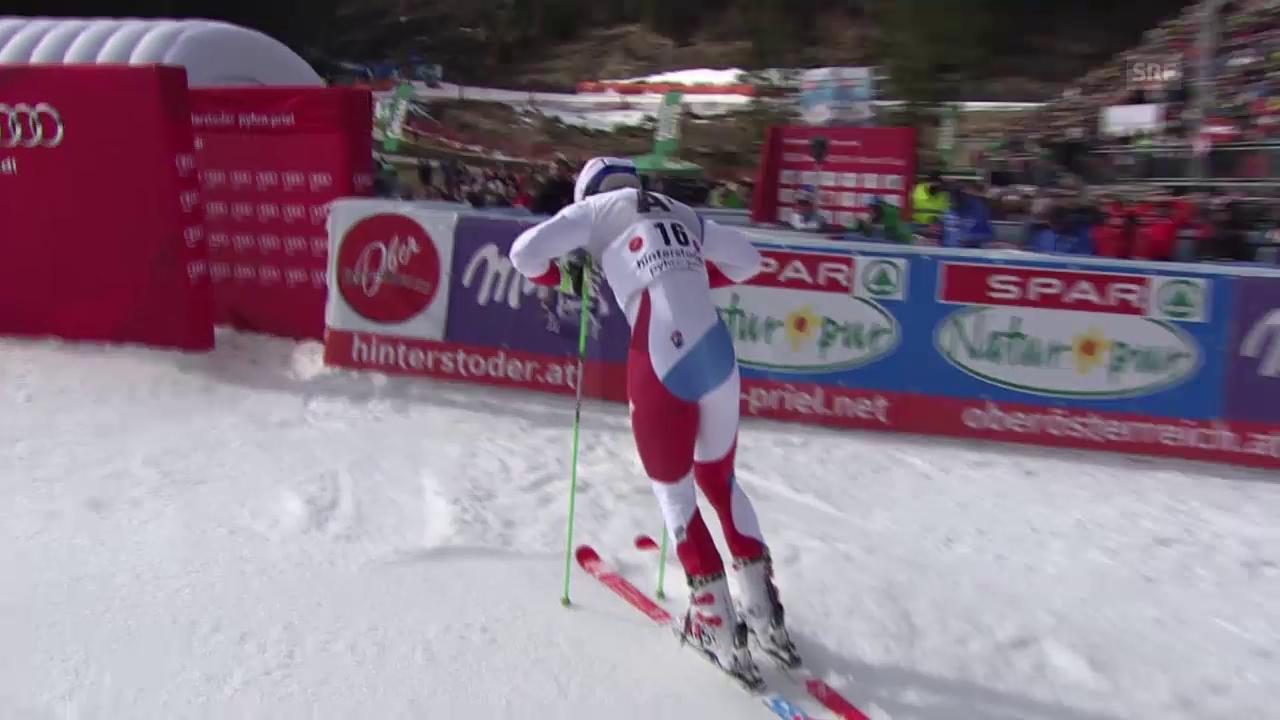 Carlo Janka kann sich im 2. Lauf nicht steigern