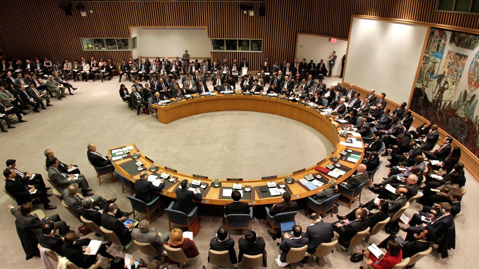 Applaus im UNO-Sicherheitsrat nach Annahme der Resolution