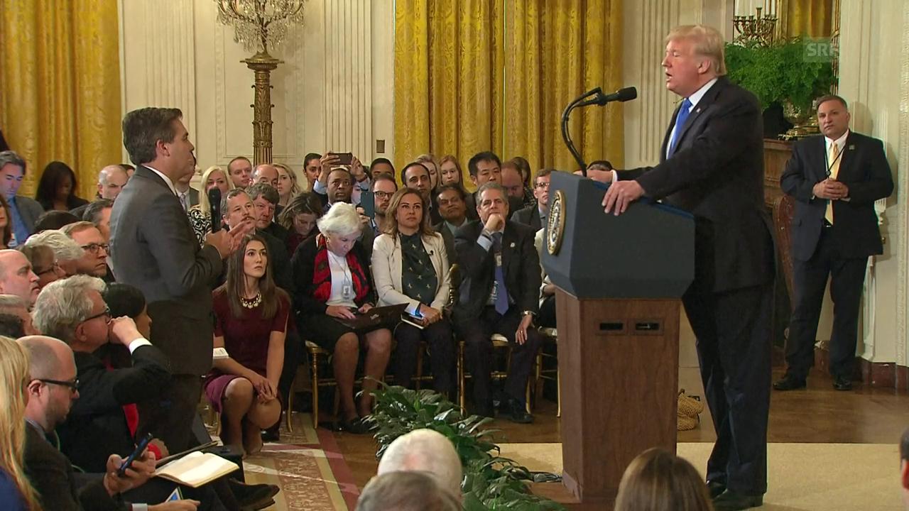 Eklat im Weißen Haus: Donald Trump und CNN-Reporter geraten heftig aneinander