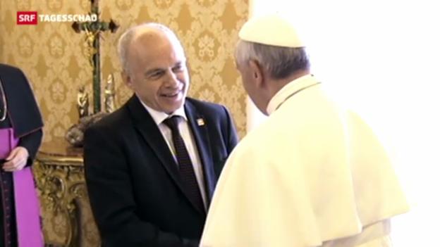 Video «Ueli Maurer beim Papst» abspielen