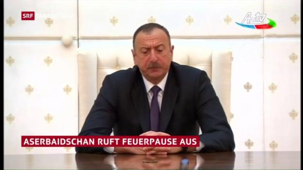 Video «Aserbaidschan ruft einseitige Waffenruhe aus» abspielen