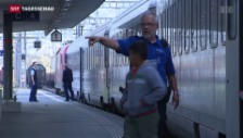 Video «Grenzwachtkorps nimmt Flüchtlinge in Empfang» abspielen