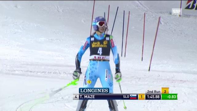 Ski: 2. Lauf Maze