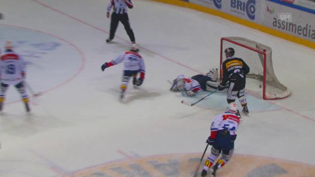 Video «Lugano schafft gegen die Löwen den Ausgleich» abspielen