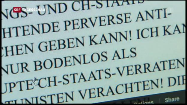 Video «Verzeigungen wegen Verleumdungen nehmen zu» abspielen